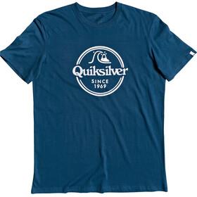 Quiksilver Words Remain Maglietta a maniche corte Uomo, blu